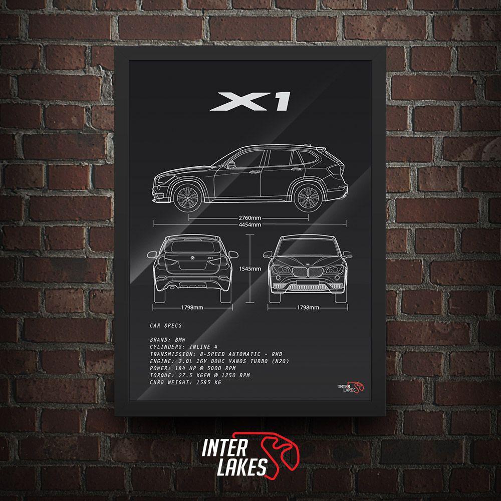 QUADRO/POSTER BMW X1 SDRIVE 2014