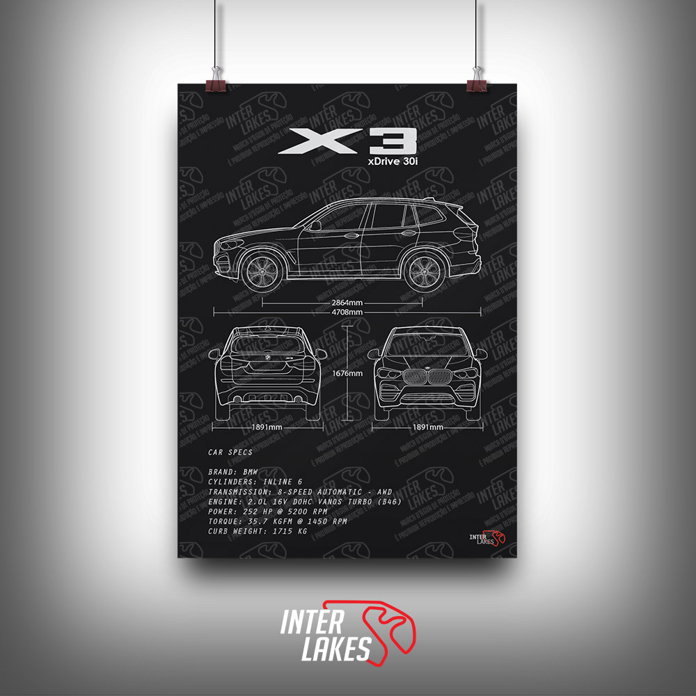 QUADRO/POSTER BMW X3 G01 XDRIVE 30I