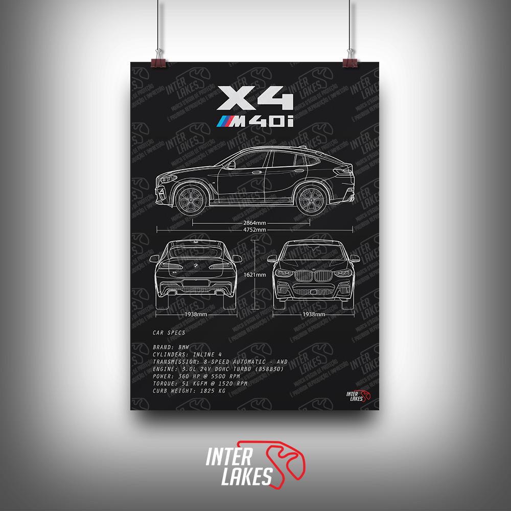 QUADRO/POSTER BMW X4 M40I G02