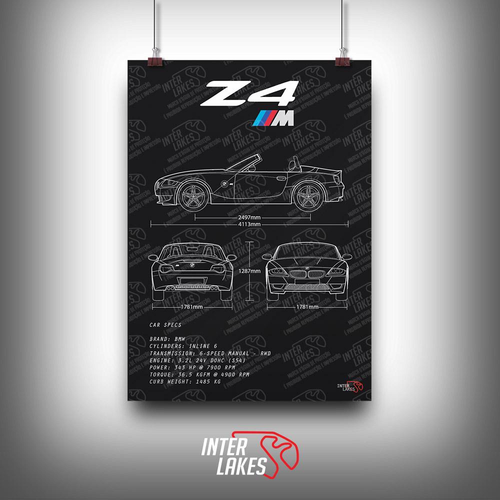 QUADRO/POSTER BMW Z4 M ROADSTER