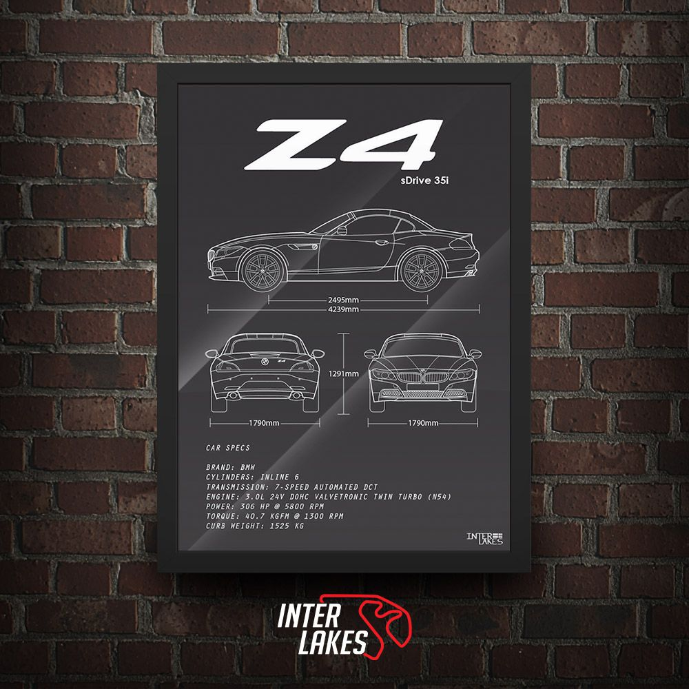 QUADRO/POSTER BMW Z4 SDRIVE E85 35I ROADSTER Z SERIES