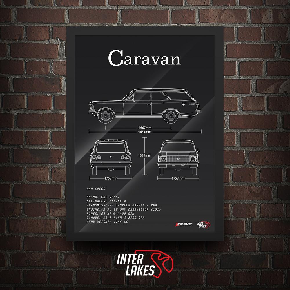 QUADRO/POSTER CHEVROLET CARAVAN 2.5 1975