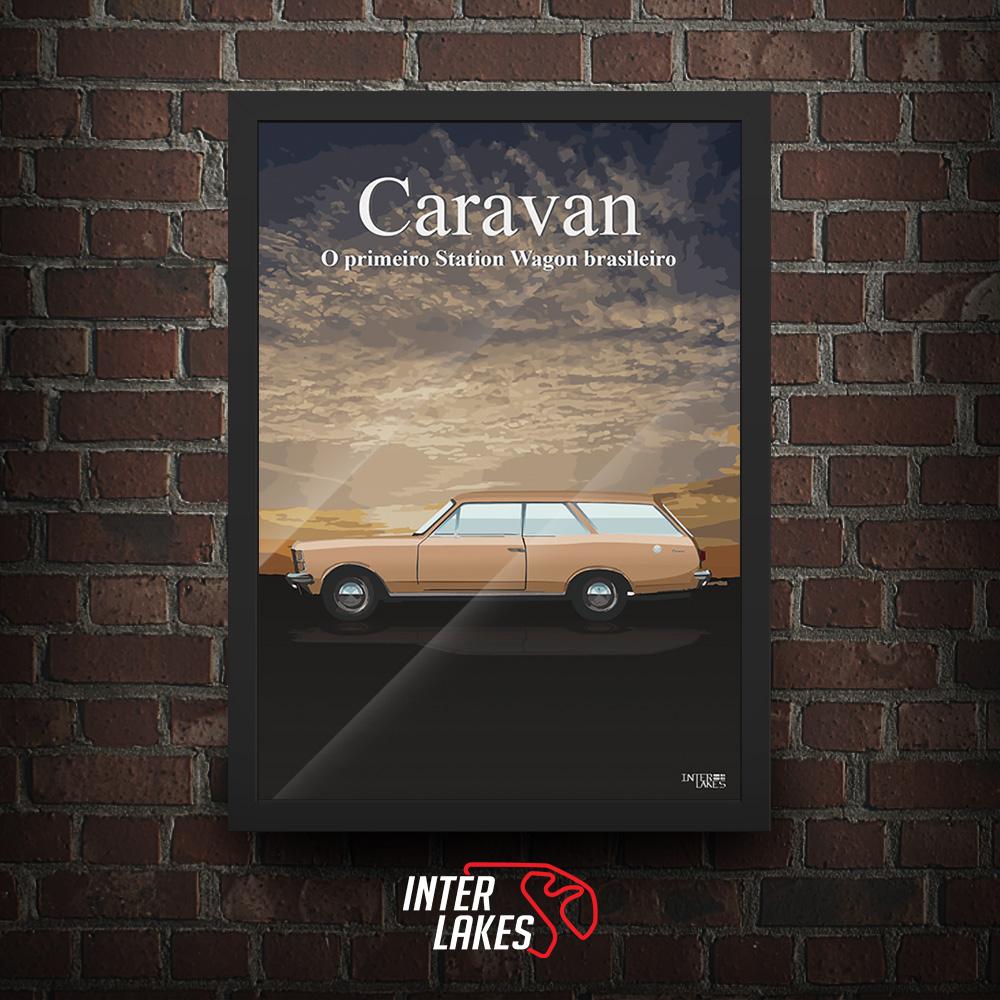 QUADRO/POSTER CHEVROLET CARAVAN 77