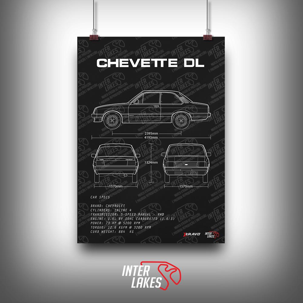 QUADRO/POSTER CHEVROLET CHEVETTE DL 1991