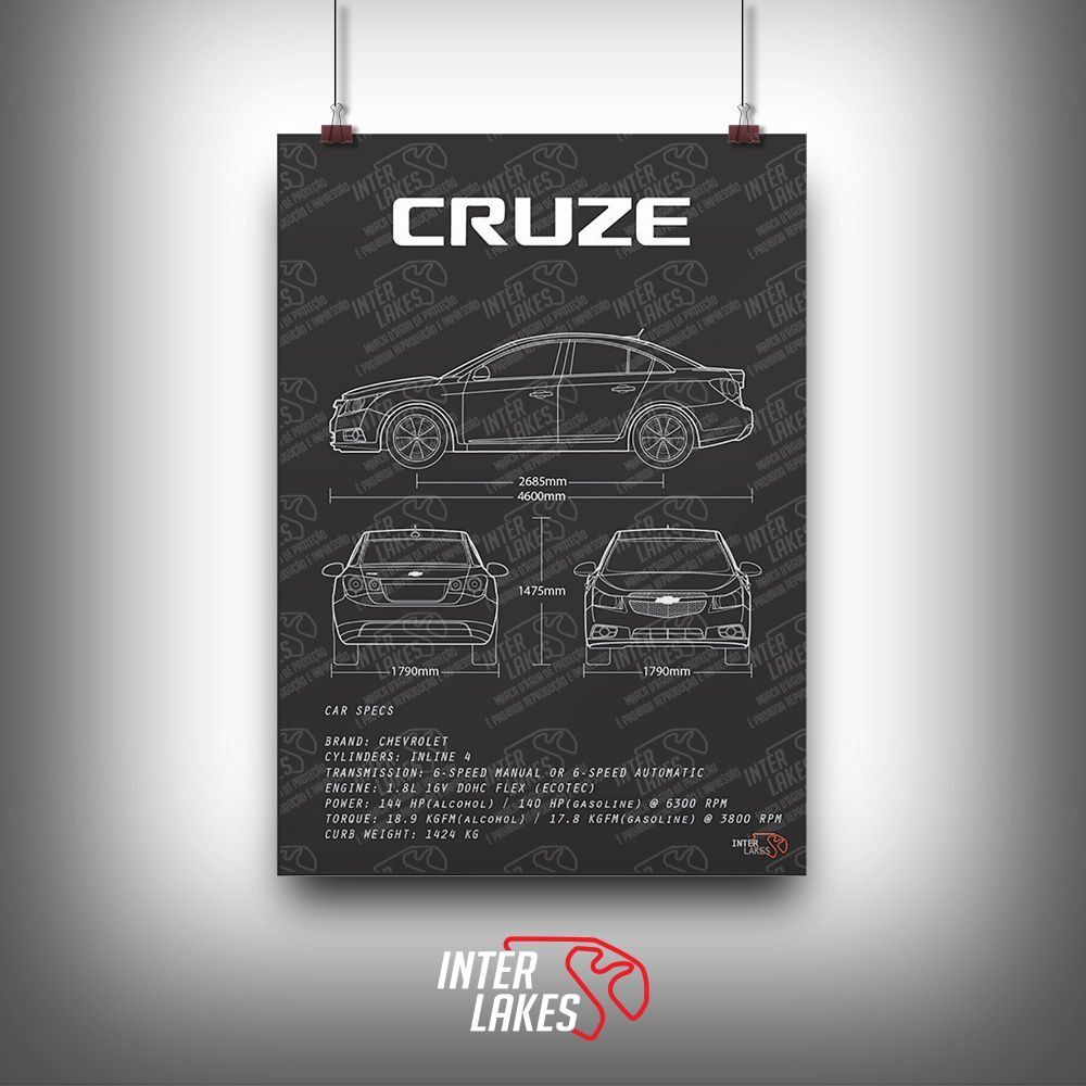 QUADRO/POSTER CHEVROLET CRUZE LT SEDAN 2014