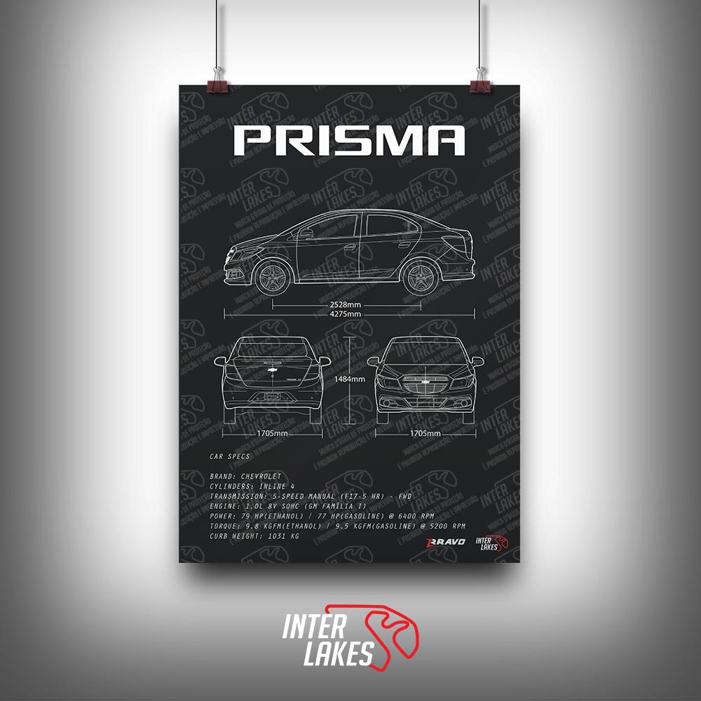 QUADRO/POSTER CHEVROLET PRISMA LT 1.0 2015