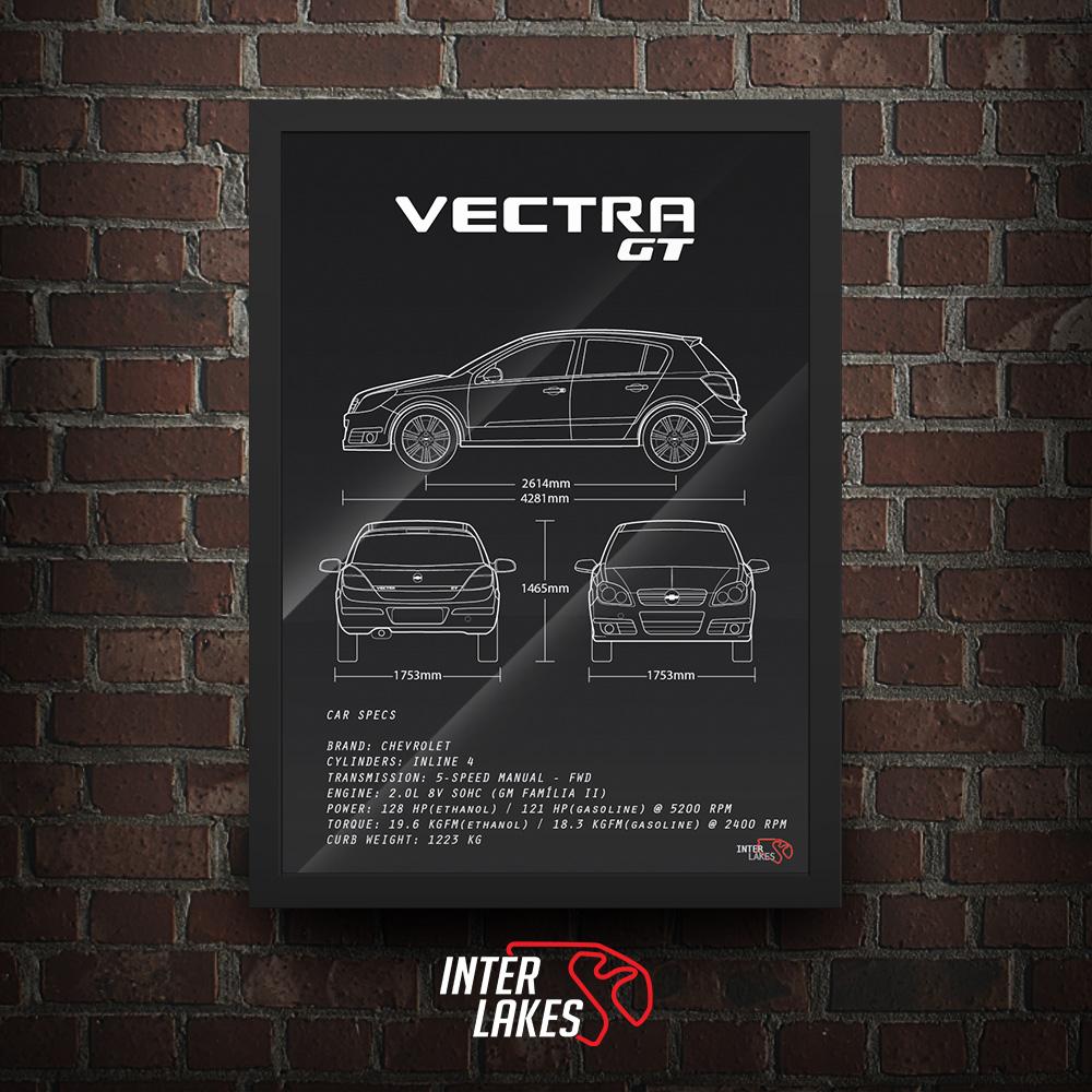 QUADRO/POSTER CHEVROLET VECTRA GT 2008