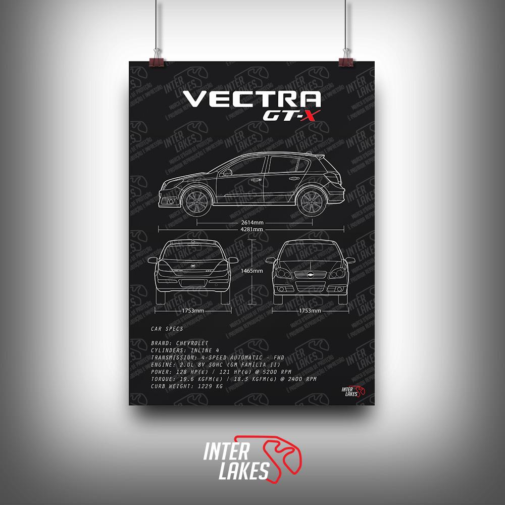 QUADRO/POSTER CHEVROLET VECTRA GT-X 2008