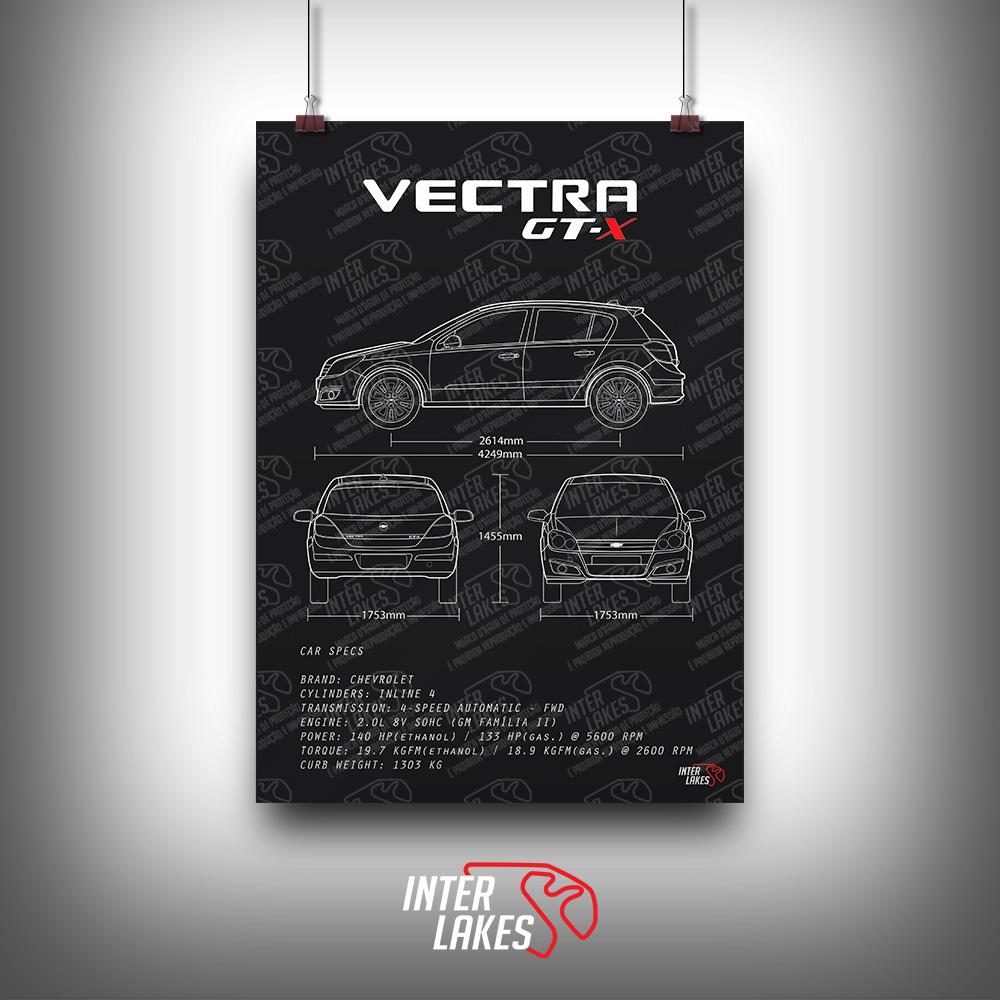 QUADRO/POSTER CHEVROLET VECTRA GT-X 2011