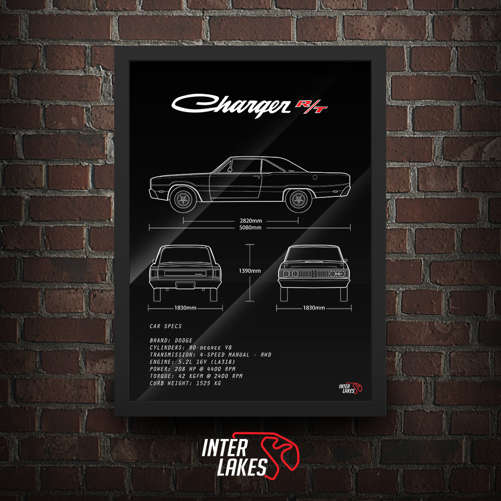 QUADRO/POSTER DODGE CHARGER R/T 1978