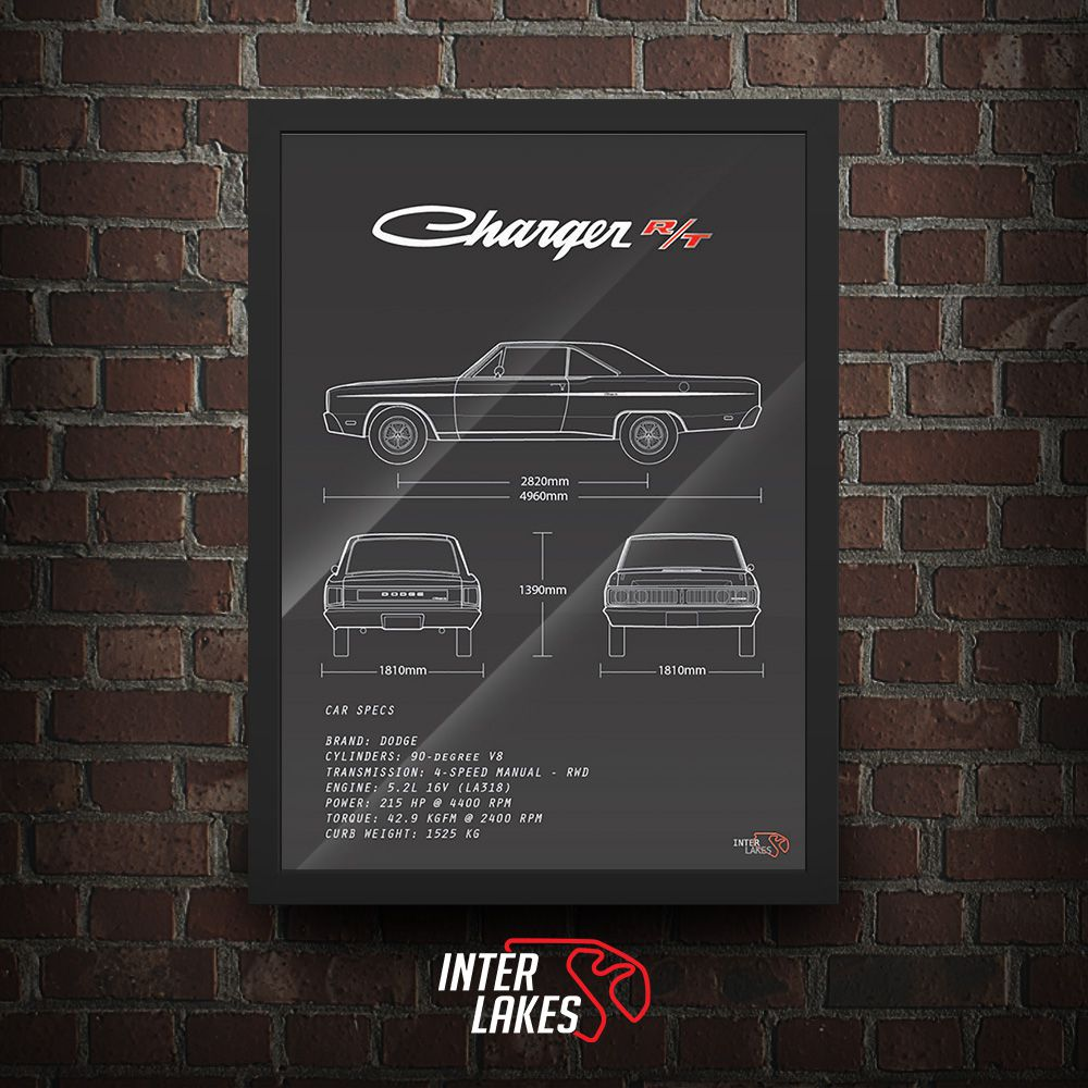 QUADRO/POSTER DODGE CHARGER RT 75
