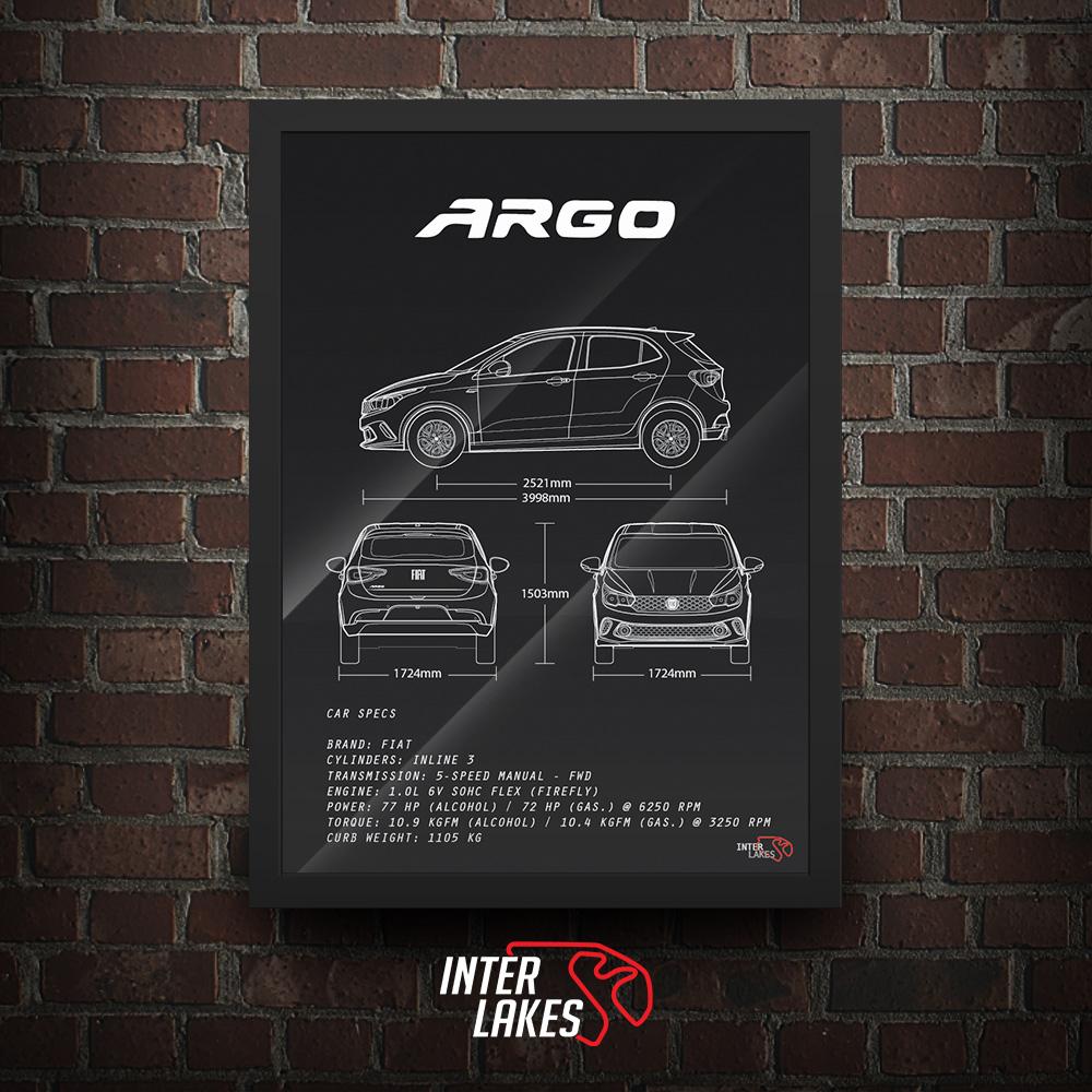 QUADRO/POSTER FIAT ARGO 1.0