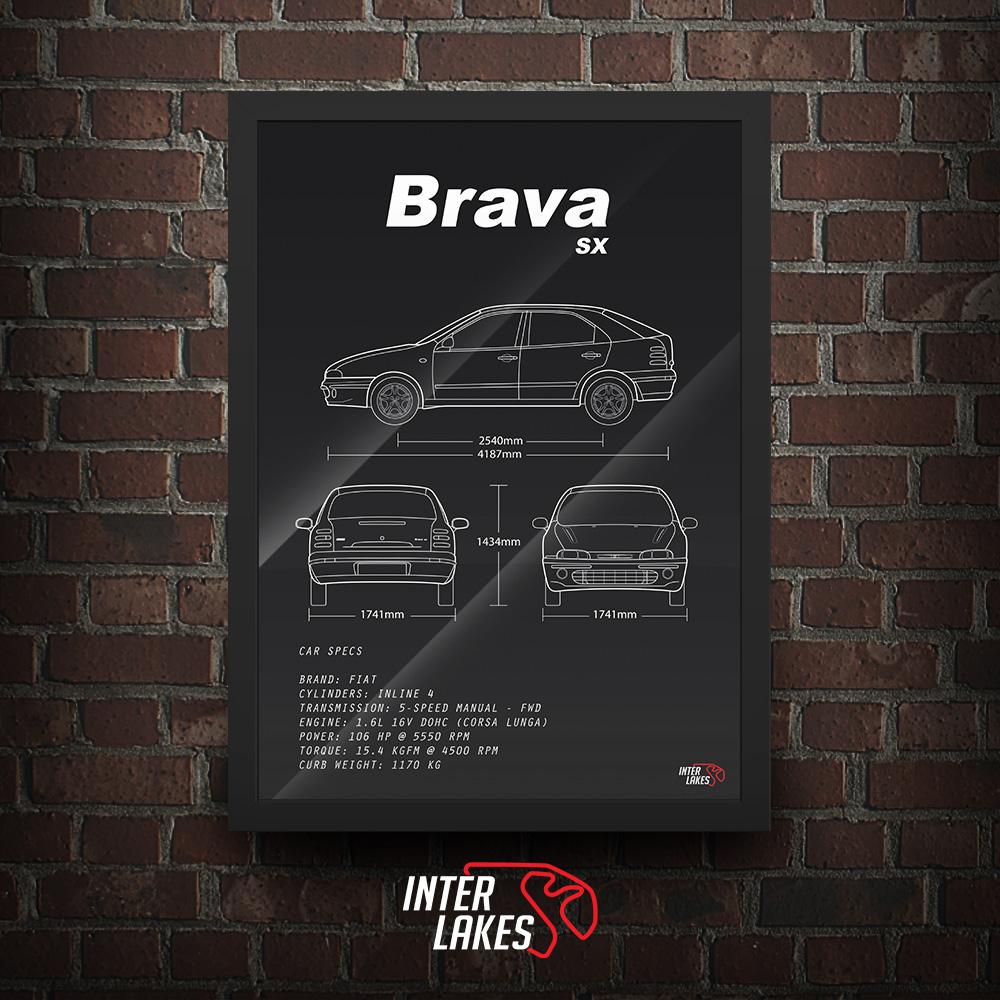 QUADRO/POSTER FIAT BRAVA SX 1.6 2003