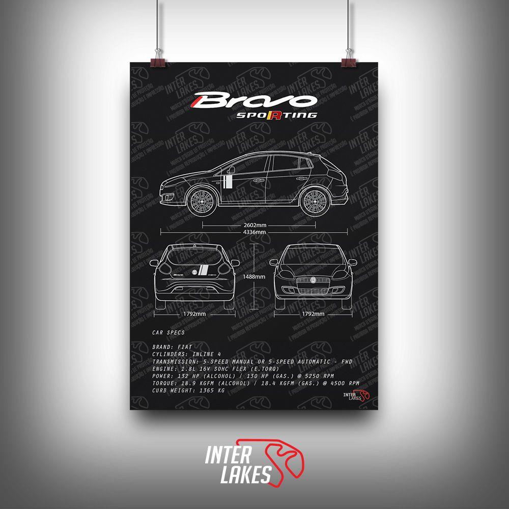 QUADRO/POSTER FIAT BRAVO SPORTING 2014
