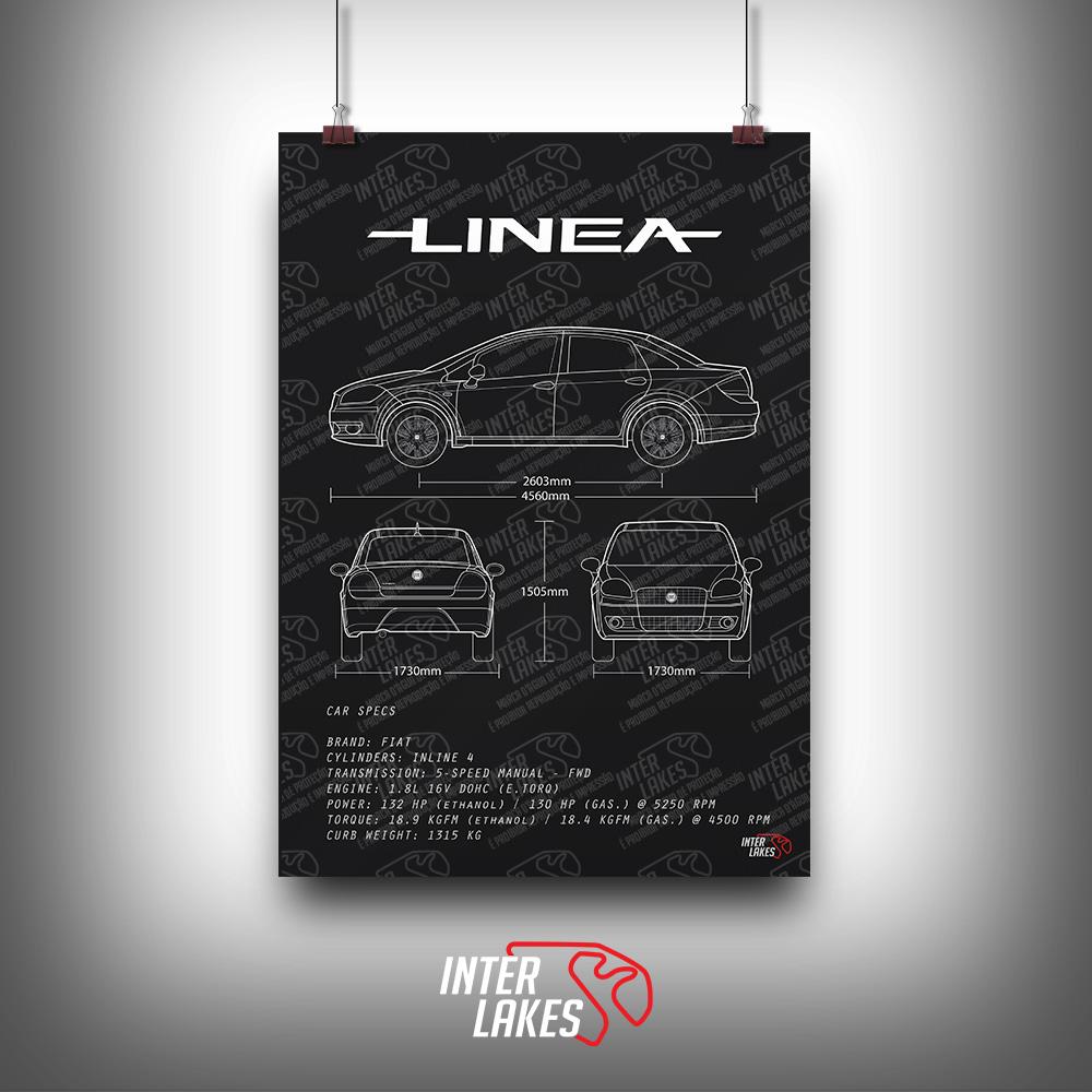 QUADRO/POSTER FIAT LINEA ESSENSE 1.8 2014