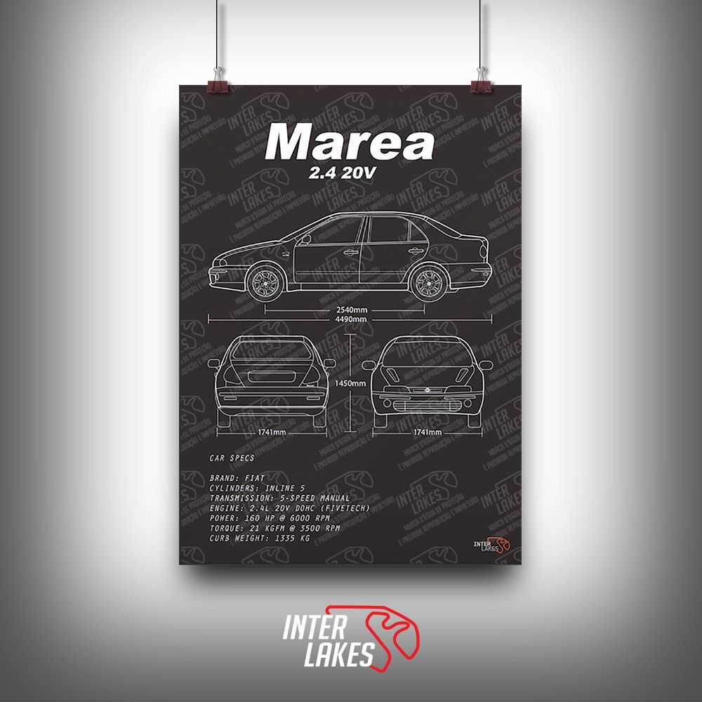 QUADRO/POSTER FIAT MAREA 2.4 BADBOY