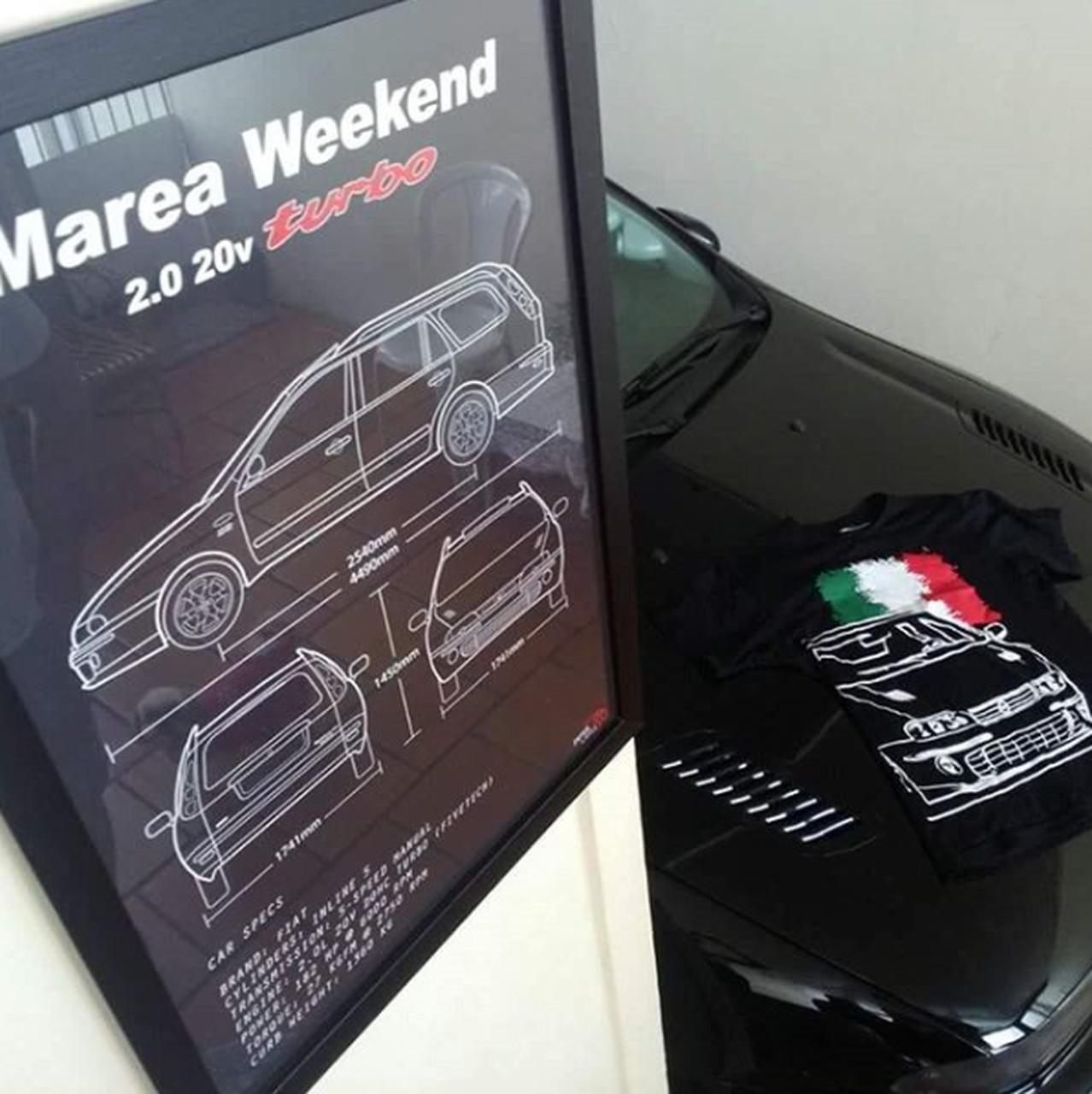 QUADRO/POSTER FIAT MAREA WEEKEND 2.0 TURBO