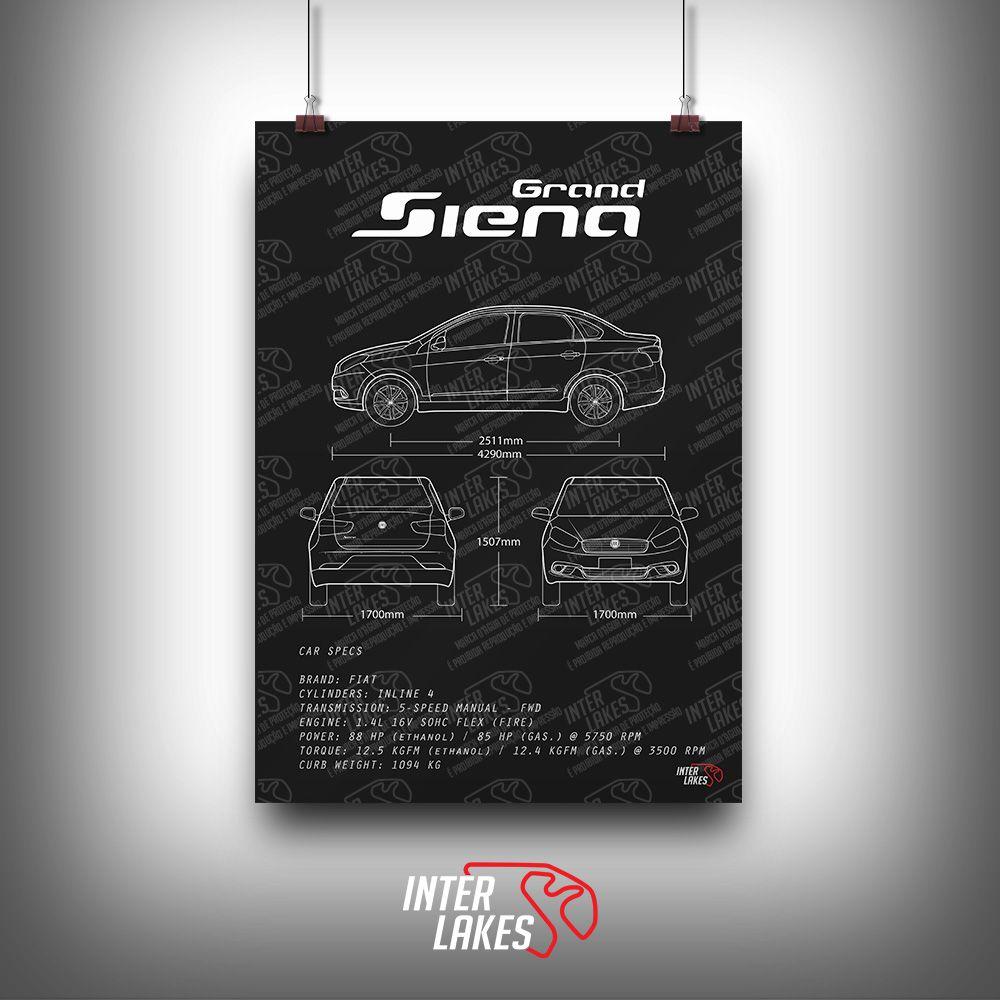 QUADRO/POSTER FIAT SIENA 1.0 2015