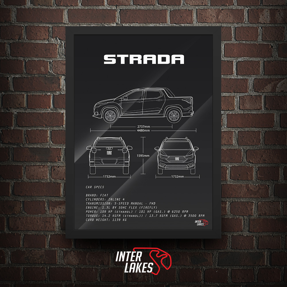 QUADRO/POSTER FIAT STRADA VOLCANO 1.3 2021