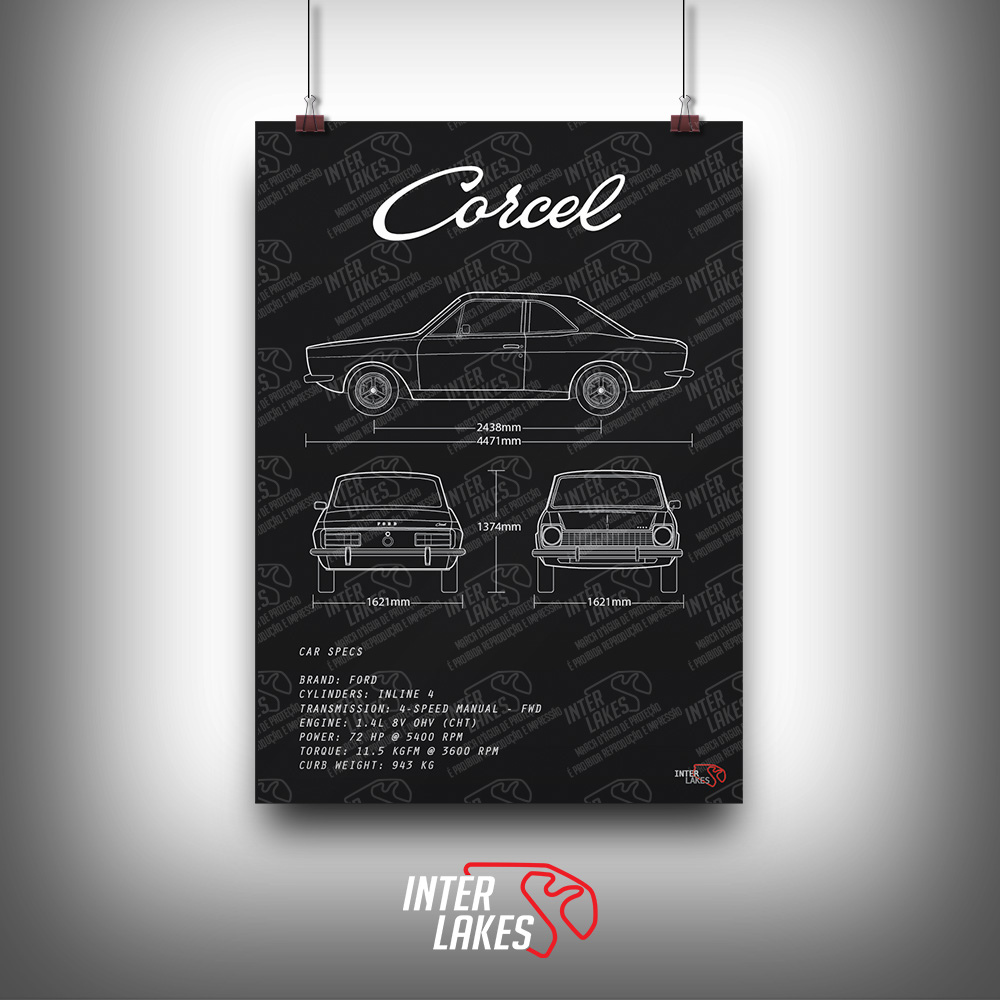 QUADRO/POSTER FORD CORCEL LUXO
