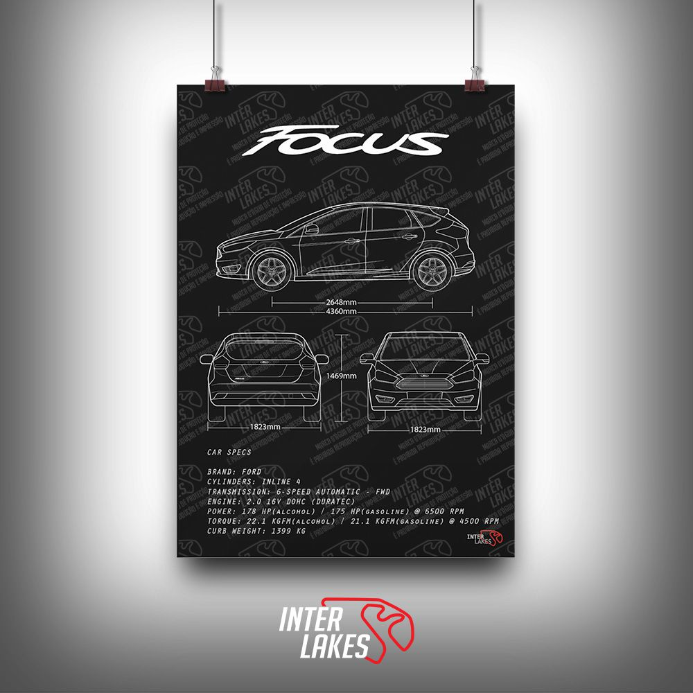 QUADRO/POSTER FORD FOCUS HATCH TITANIUM 2017