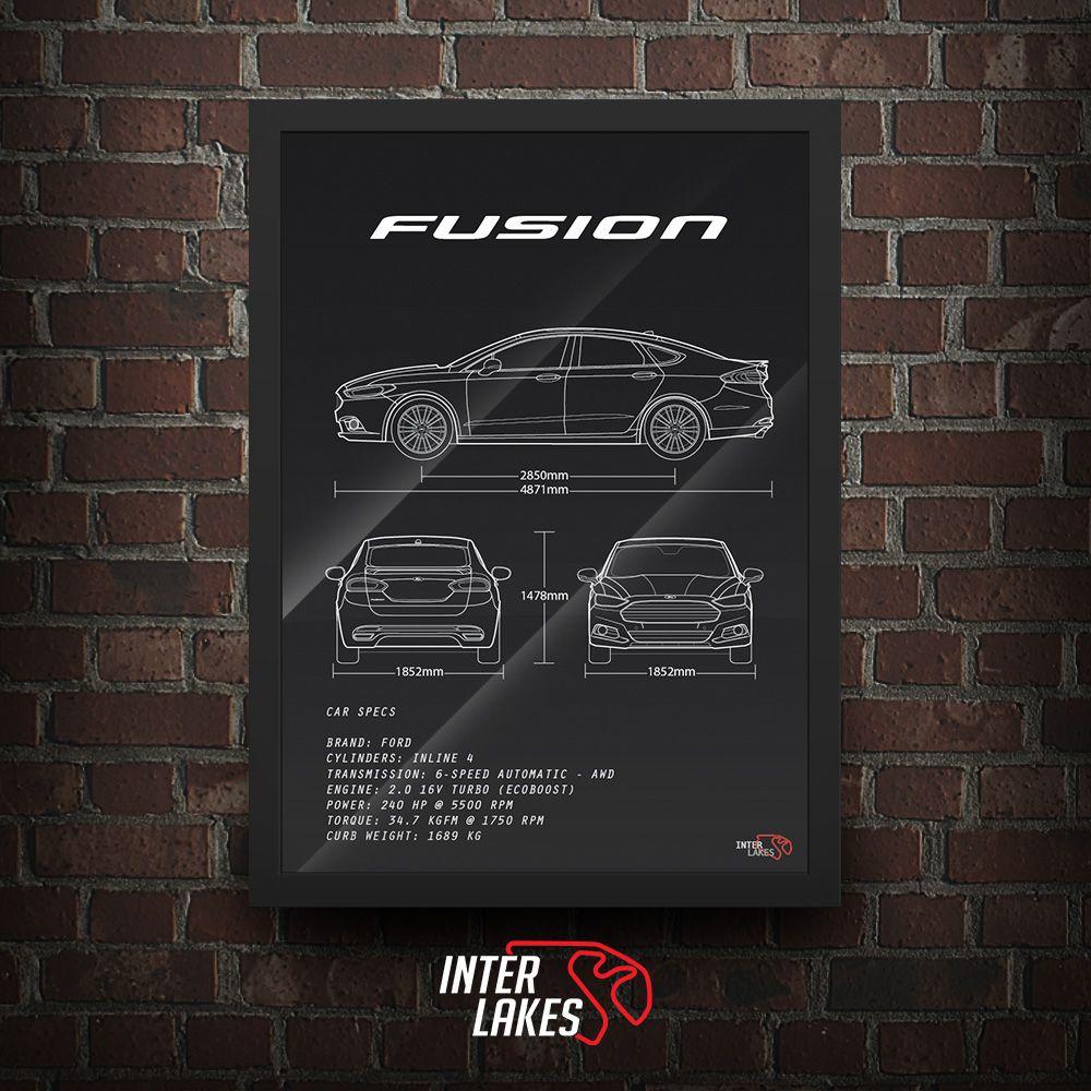 QUADRO/POSTER FORD FUSION TITANIUM 2.0 AWD