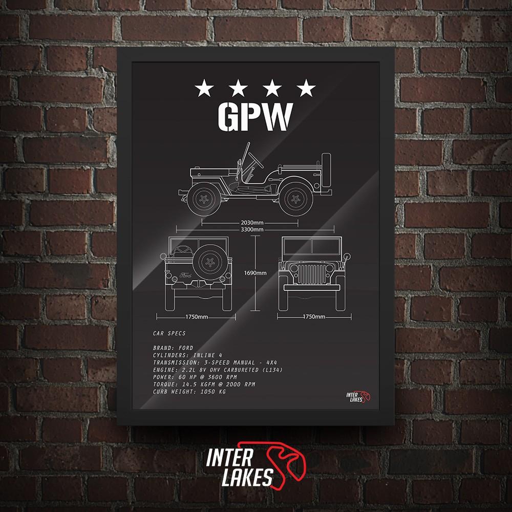 QUADRO/POSTER FORD GPW 1942