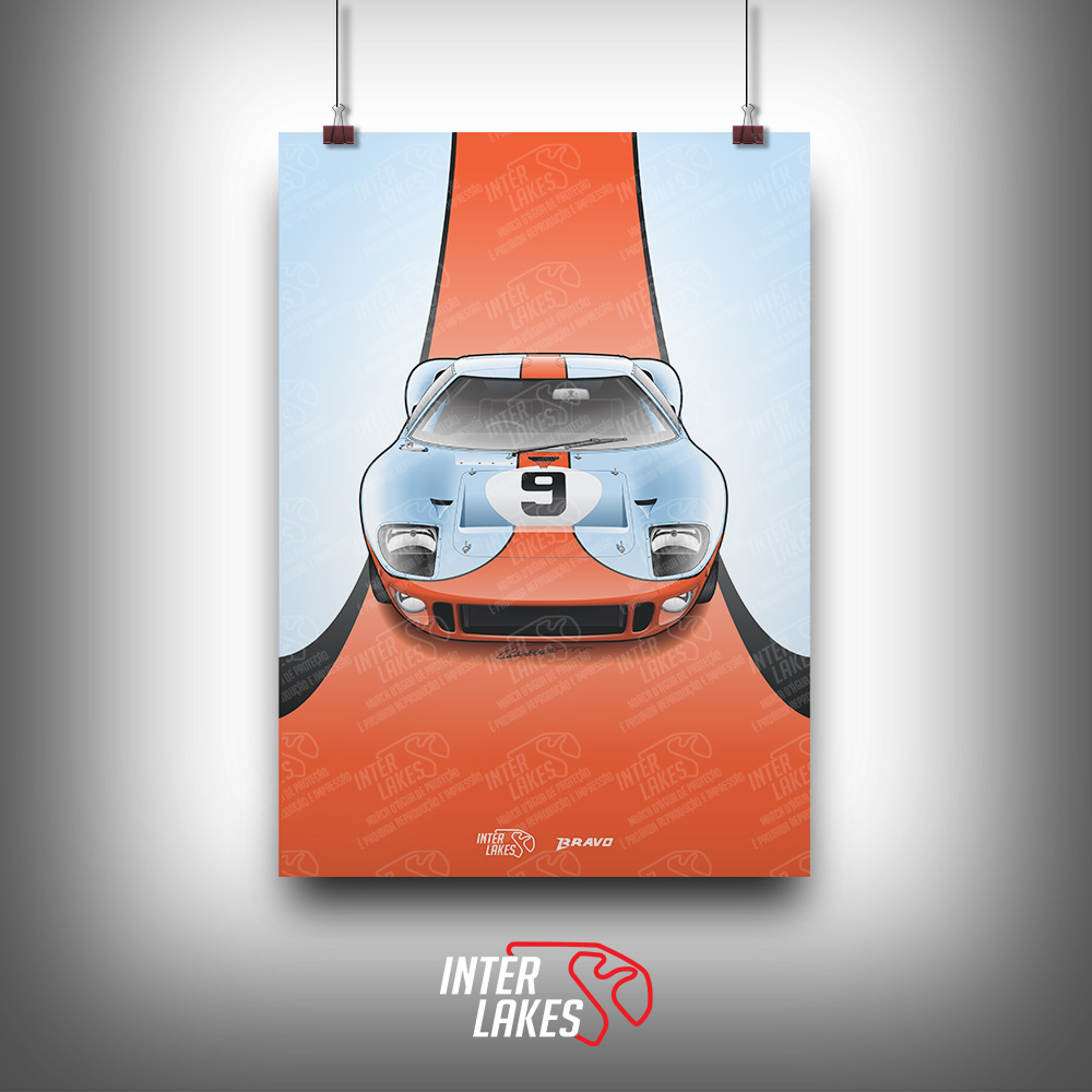 QUADRO/POSTER FORD GT40 - SÉRIE ICONS