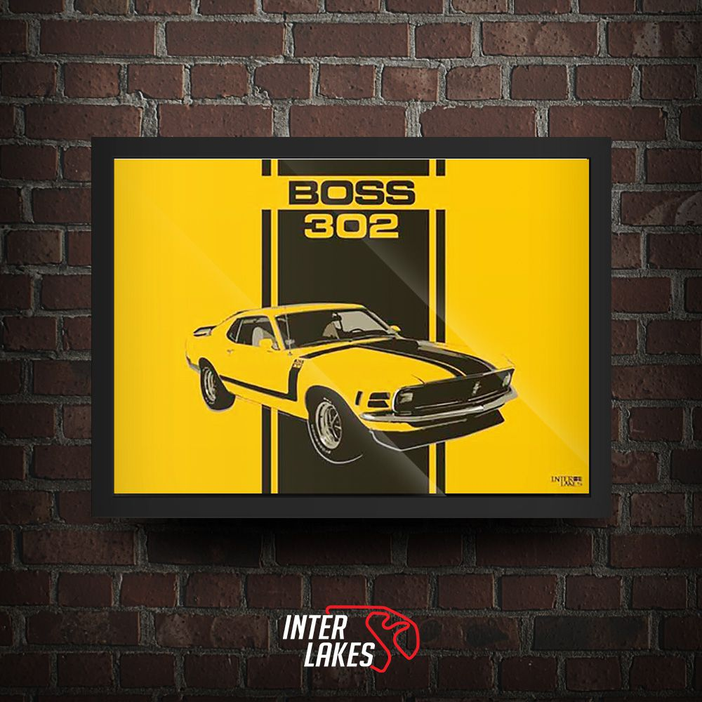 QUADRO/POSTER FORD MUSTANG BOSS 302