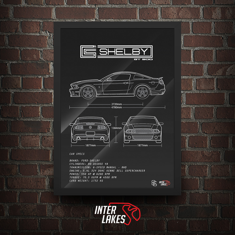 QUADRO/POSTER FORD MUSTANG GT500 2010