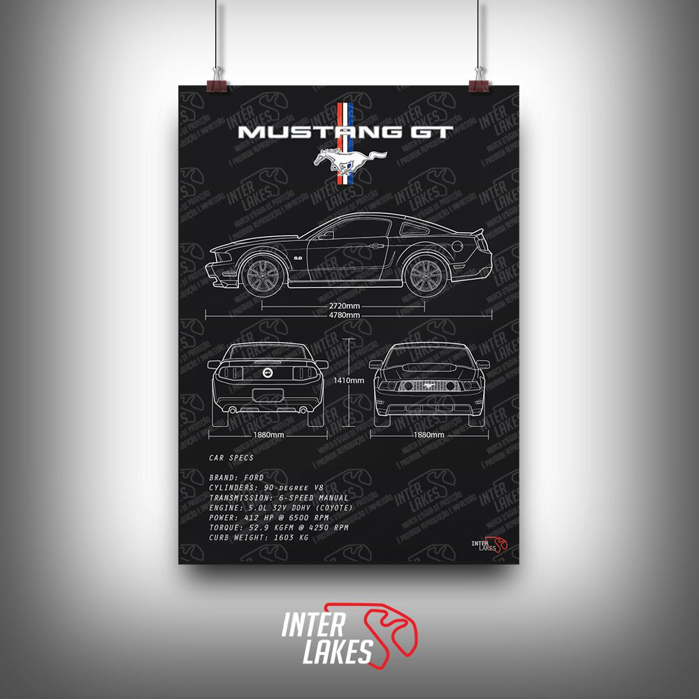 QUADRO/POSTER FORD MUSTANG GT 2011
