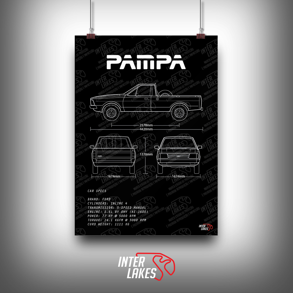 QUADRO/POSTER FORD PAMPA 1.6 1993