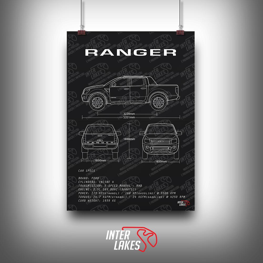 QUADRO/POSTER FORD RANGER CD 2.5 FLEX 2015