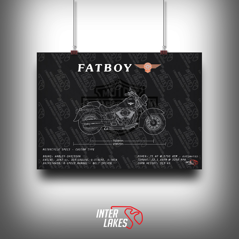 QUADRO/POSTER HARLEY-DAVIDSON FATBOY SOFTAIL 2014