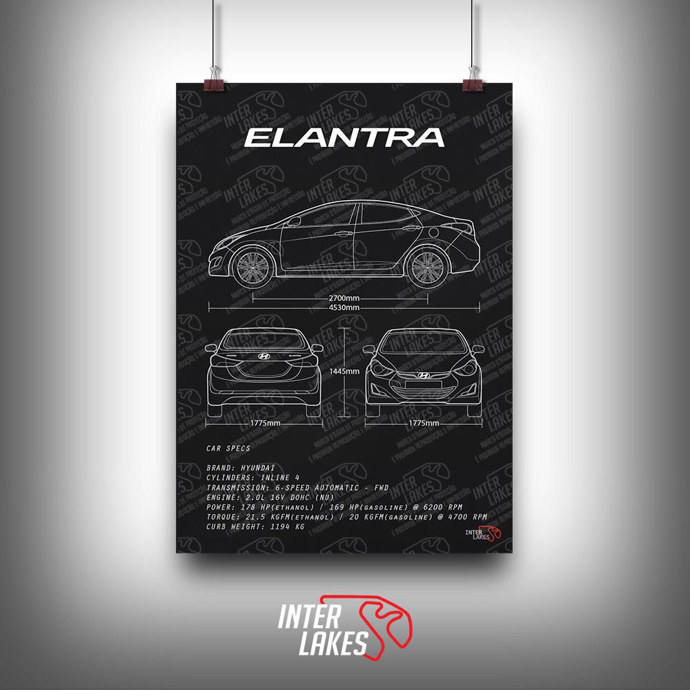 QUADRO/POSTER HYUNDAI ELANTRA 2.0 GLS 2015