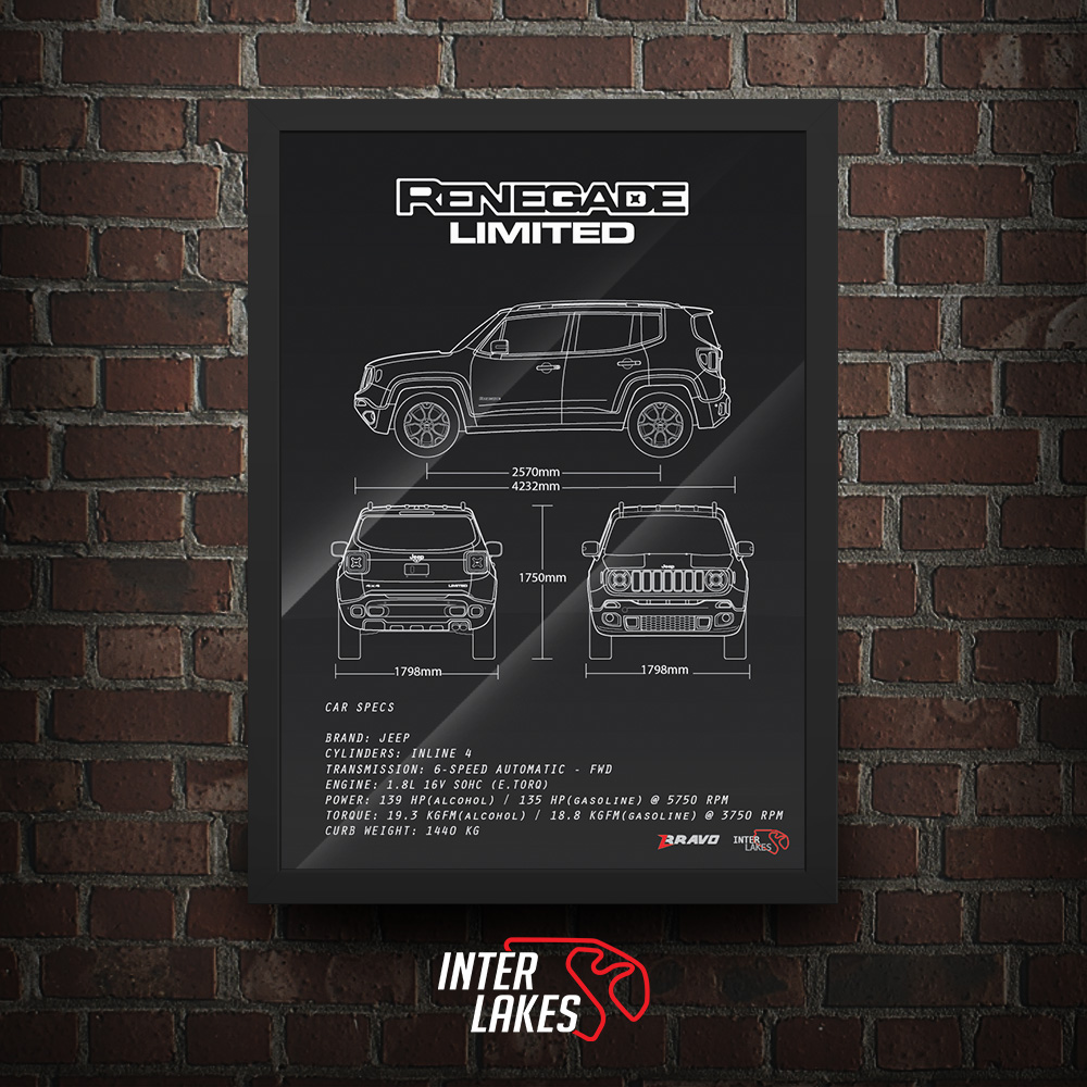 QUADRO/POSTER JEEP RENEGADE LIMITED