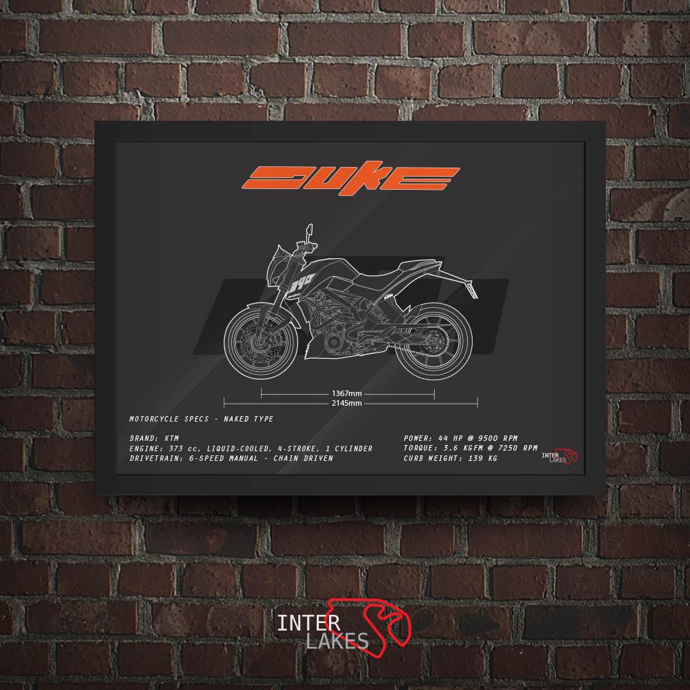 QUADRO/POSTER KTM DUKE 390