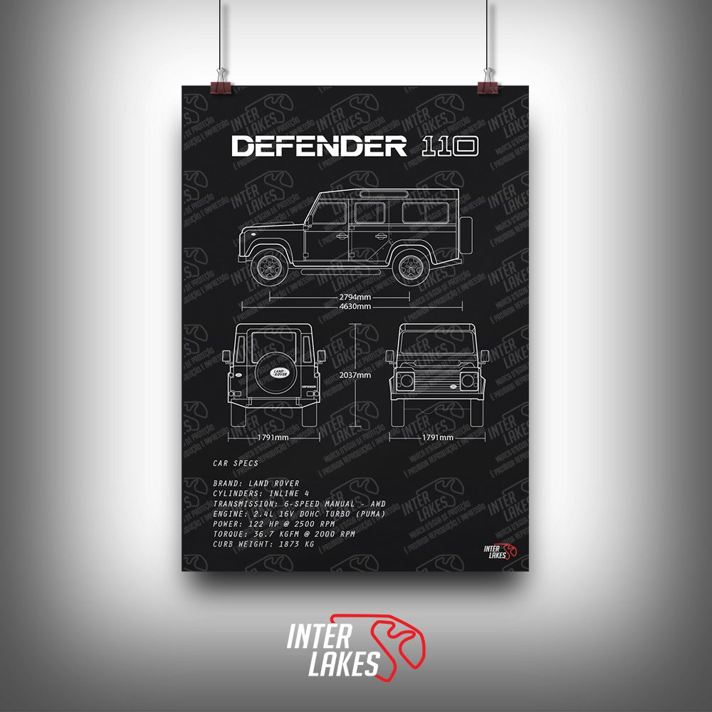 QUADRO/POSTER LAND ROVER DEFENDER 110 2.4
