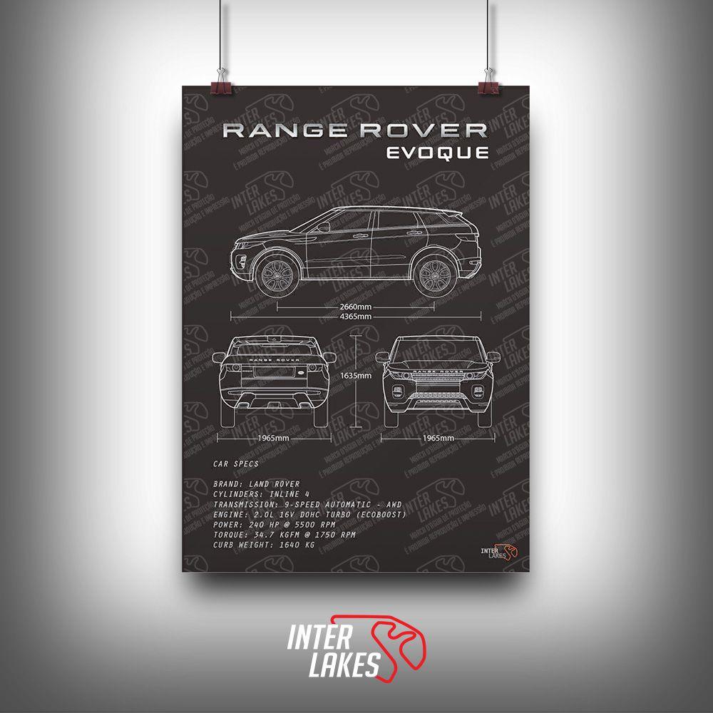 QUADRO/POSTER LAND ROVER RANGE ROVER EVOQUE 2.0
