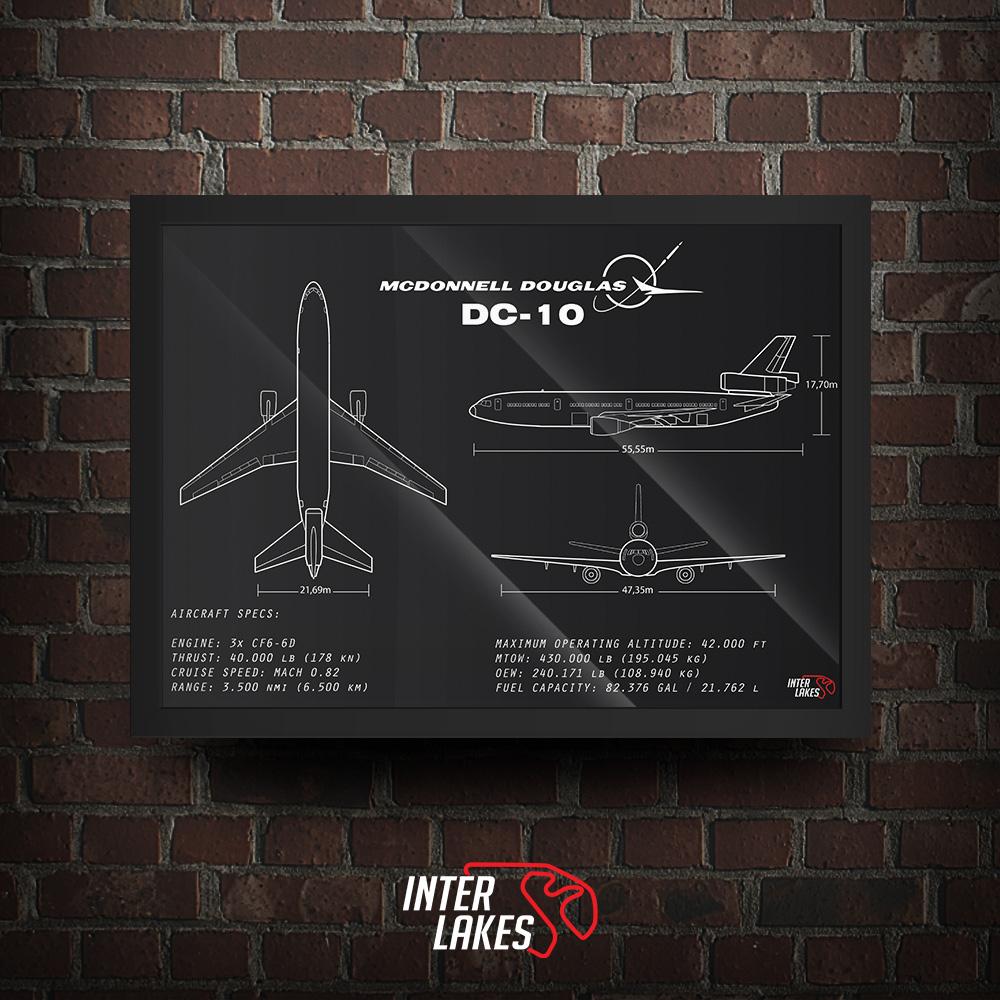 QUADRO/POSTER MCDONNELL DOUGLAS DC-10