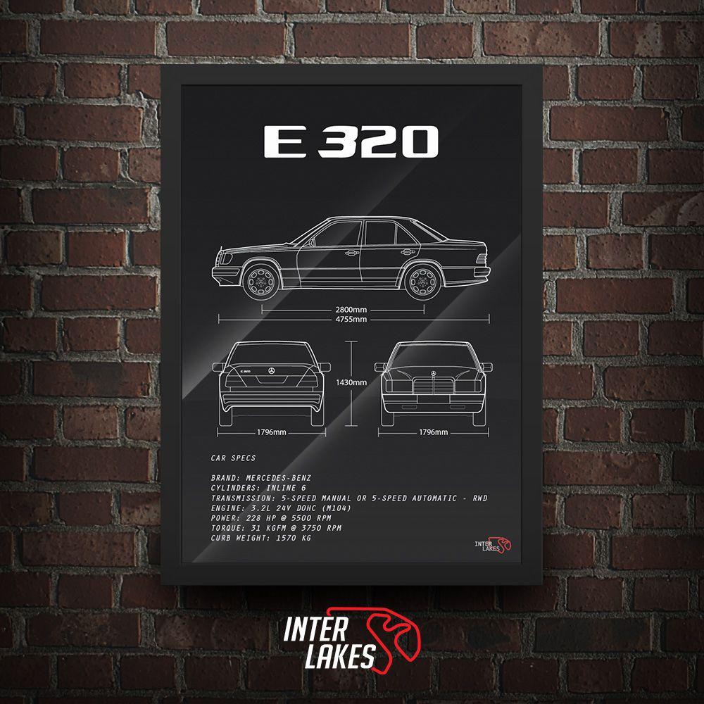 QUADRO/POSTER MERCEDES-BENZ E320 W124
