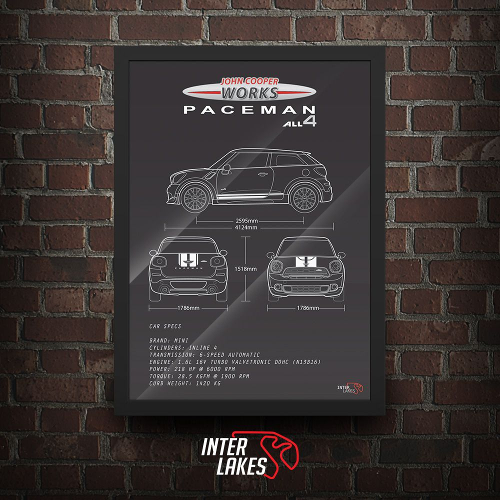 QUADRO/POSTER MINI JCW PACEMAN ALL4