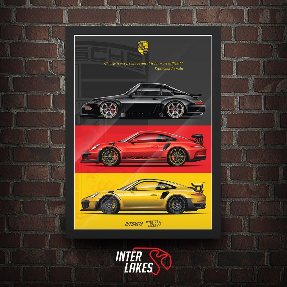 QUADRO/POSTER NEW PORSCHE TRIBUTE