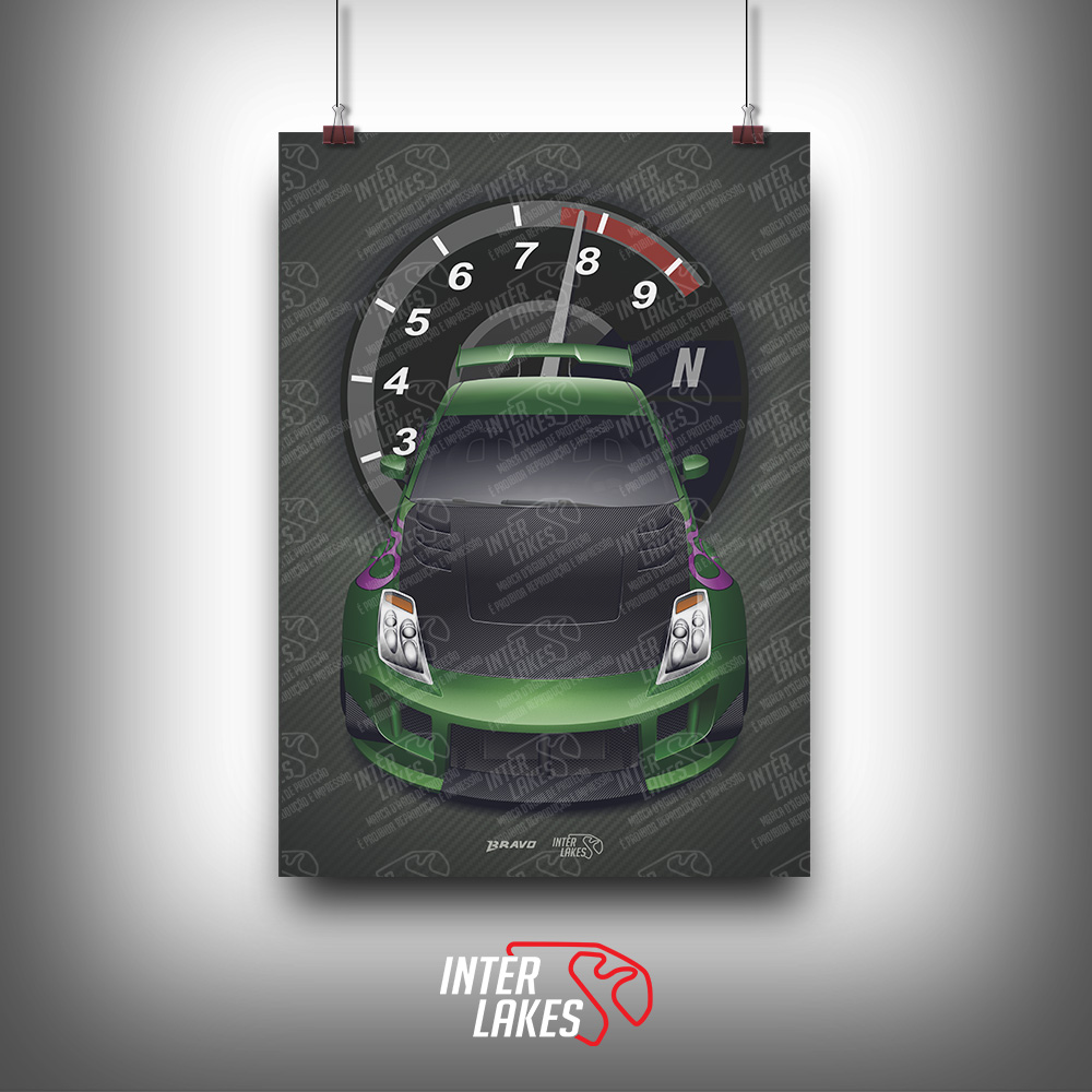 QUADRO/POSTER NISSAN 350Z NEED FOR SPEED UNDERGROUND 2 -SÉRIE ICONS