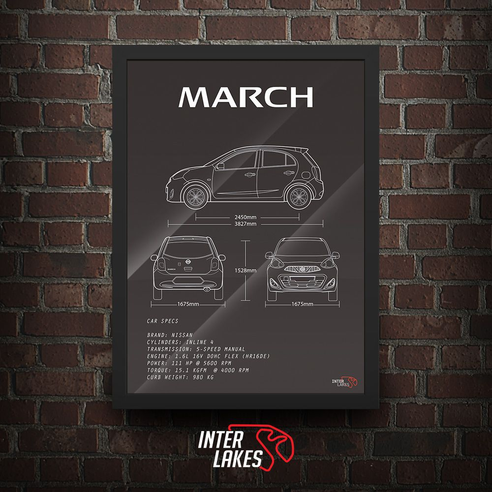 QUADRO/POSTER NISSAN NEW MARCH