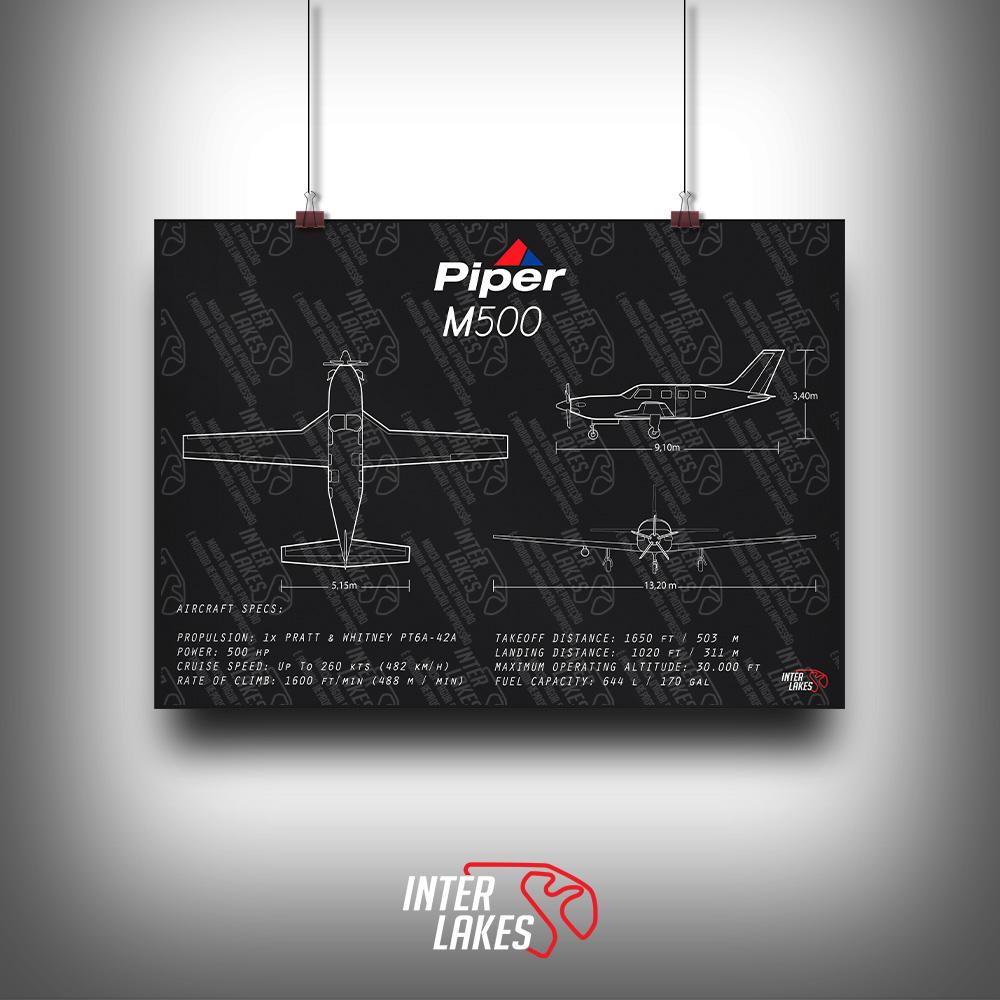 QUADRO/POSTER PIPER M500