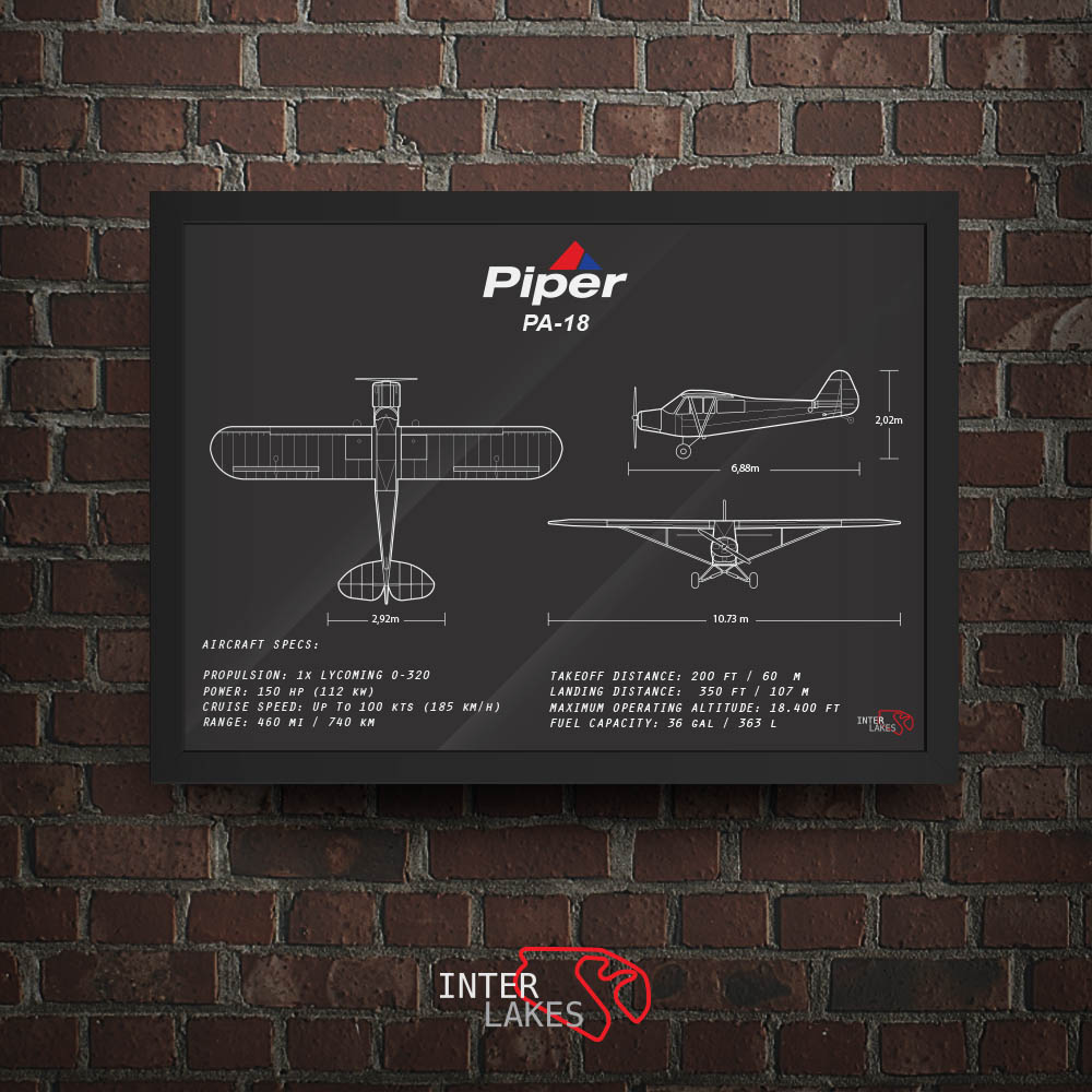 QUADRO/POSTER PIPER PA-18