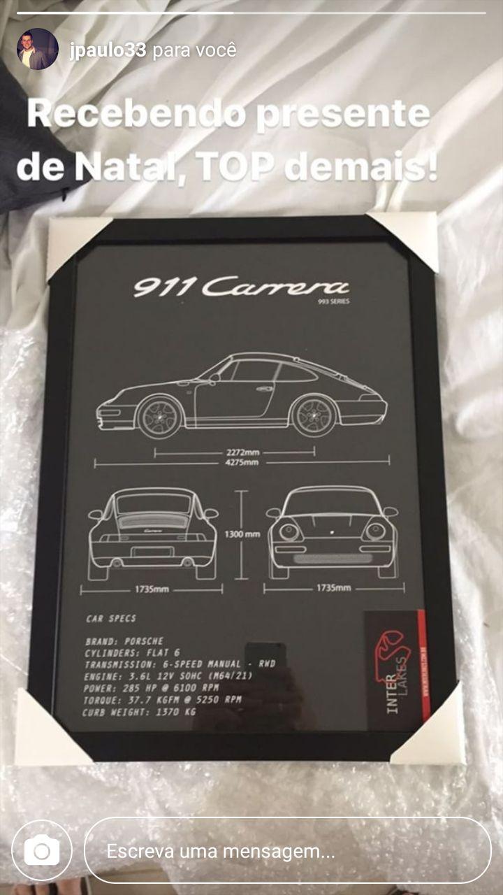 QUADRO/POSTER PORSCHE 911 CARRERA 993 3.6
