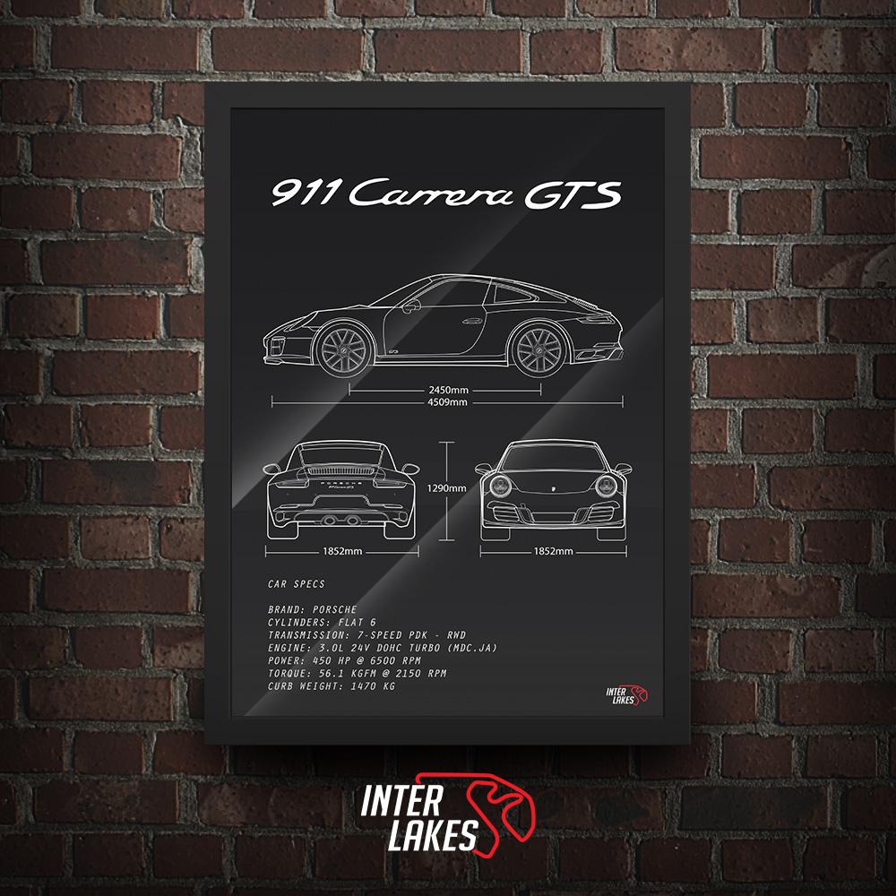 QUADRO/POSTER PORSCHE 911 CARRERA GTS 991.2