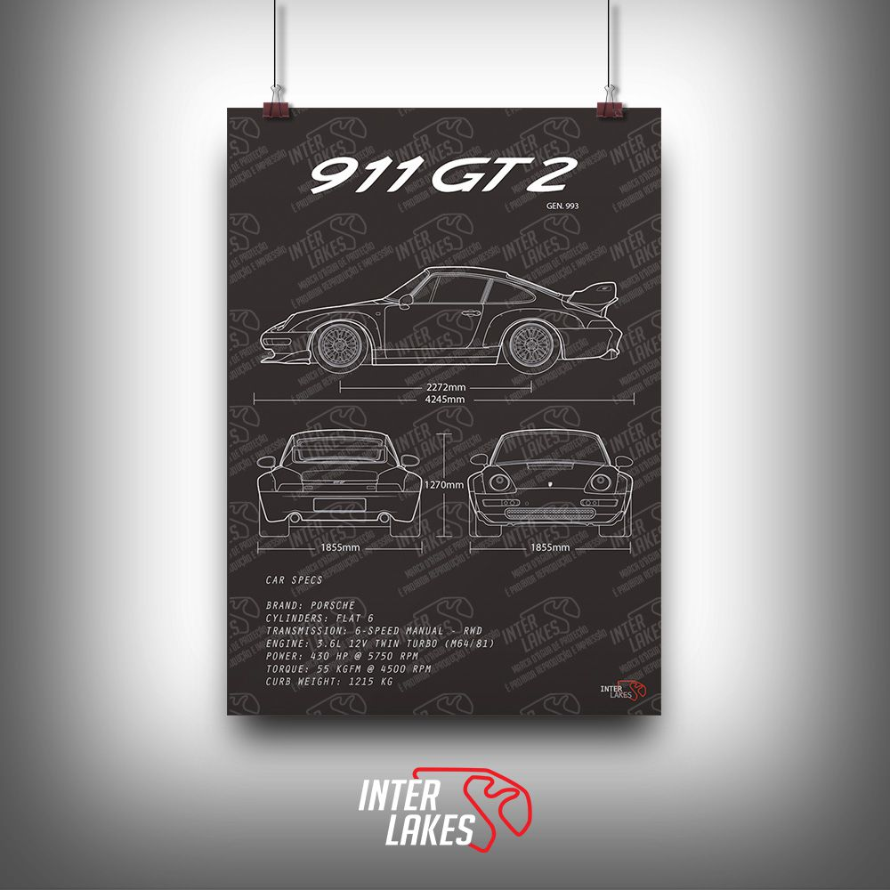 QUADRO/POSTER PORSCHE 911 GT2 993